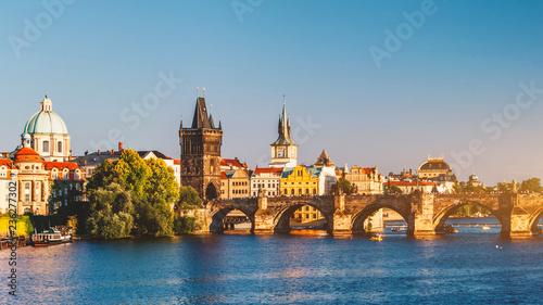 Recess Fitting Prague Charles Bridge (Karluv Most) and Lesser Town Tower, Prague, Czech Republic