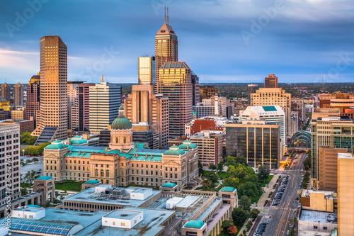 Valokuvatapetti Indianapolis, Indiana, USA Downtown Skyline