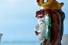 Moorish Heads, Typical Sicilian Ceramic Heads, Maiolica Pottery
