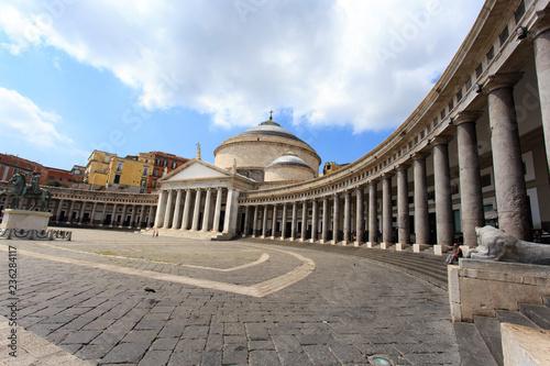 Fotografie, Obraz  Piazza del Plebiscito, Naples, Italy