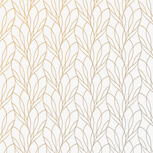 Flower Petal Or Leaves Geometric Pattern Vector Background. Repeating Tile Texture Of This Line On Oval Shape With Gradient Effect. Pattern Is Clean Usable For Wallpaper, Fabric, Printing.