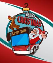 Santa Claus Driver Bus