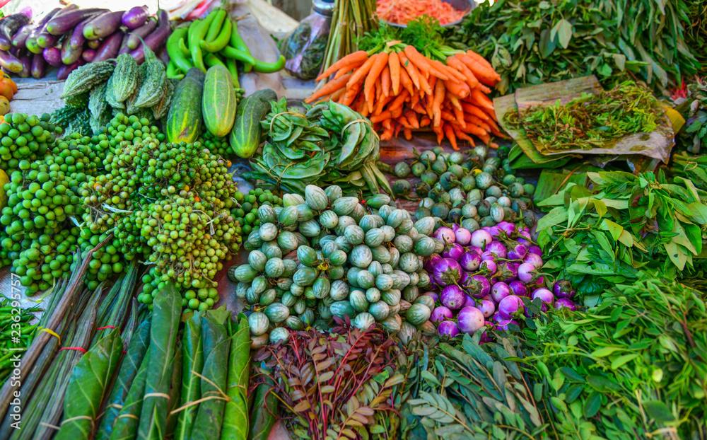 Fototapety, obrazy: Vegetables for sale at street market