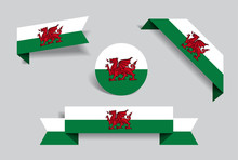 Welsh Flag Stickers And Labels...
