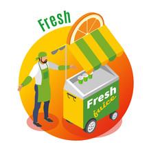 Street Food Fresh Juice Backgr...