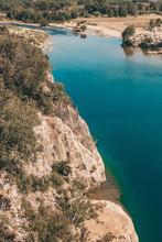 Tourist Route To The Ancient Roman Aqueduct Pont Du Gard On The River Gardon