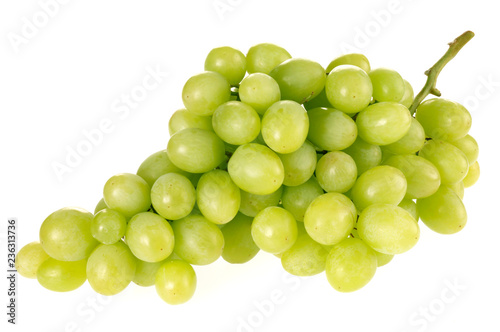 Canvas Print GREEN GRAPES ON WHITE