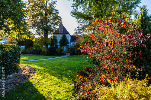 Staande foto Tuin Jardin Garnier in Provins, medieval town in France