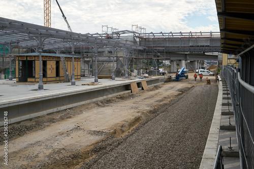 Fotografía  Baustelle am Bahnhof Ostkreuz im Jahr 2016
