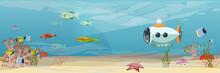A Submarine In Warm Tropical W...