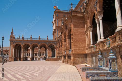 In de dag Plaza de España, Sevilla, Andalusien, Spanien