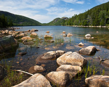 Jordan Pond In Acadia With Bubbles