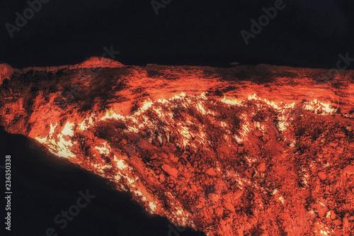 Photo Darvaza Gas crater, Turkmenistan, Central Asia, Asia