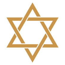 Star Of David - Gold Star Of D...