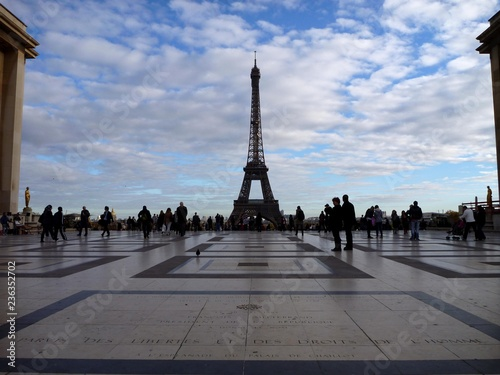 Printed kitchen splashbacks Eiffel Tower Le Trocadéro, Paris, France