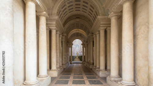 Fototapeta Luxury palace with marble columns in Rome obraz