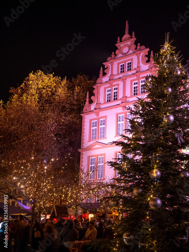 Weihnachtsmarkt Mainz.Weihnachtsmarkt Mainz Gutenberg Museum Buy This Stock Photo And