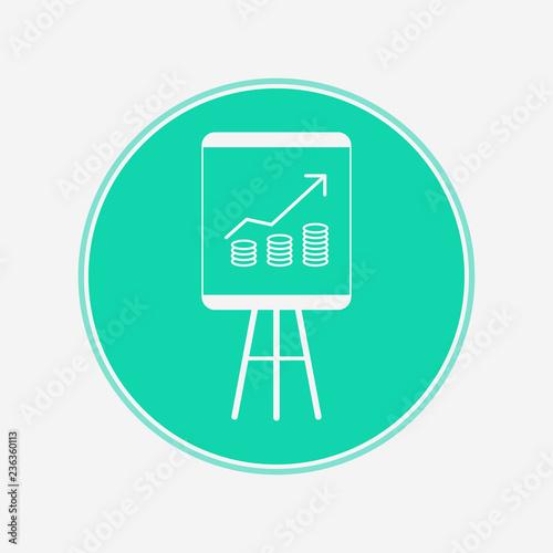 Fotografía  Revenue vector icon sign symbol