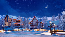Cozy Snowbound European Townsh...