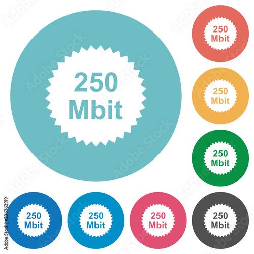 Fotografia  250 mbit guarantee sticker flat round icons