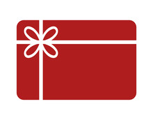 Shopping Gift Card Flat Icon