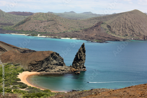 Spoed Foto op Canvas Zuid-Amerika land Pinnacle Rock, Galapagos Islands