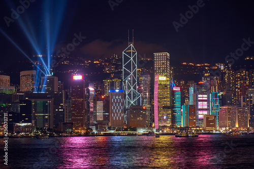 Stickers pour porte Pierre, Sable scenic of symphony of light show in hong kong