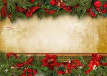 Christmas Greeting Card With H...