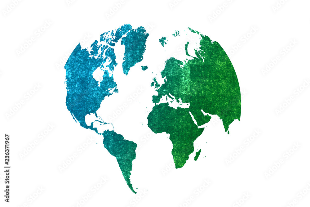 Fototapety, obrazy: watercolor earth globes isolated on white background