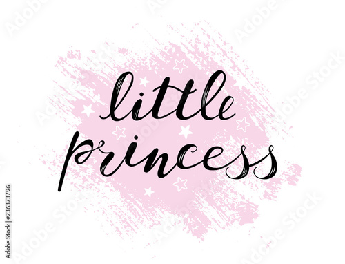 Obraz na plátně Little princess baby lettering quote, kids design
