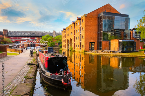 Carta da parati Castlefield - an inner city conservation area in Manchester, UK