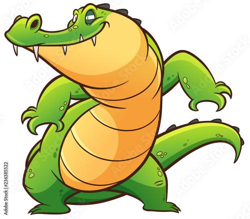 Fototapeta premium Ilustracja wektorowa Cartoon krokodyla