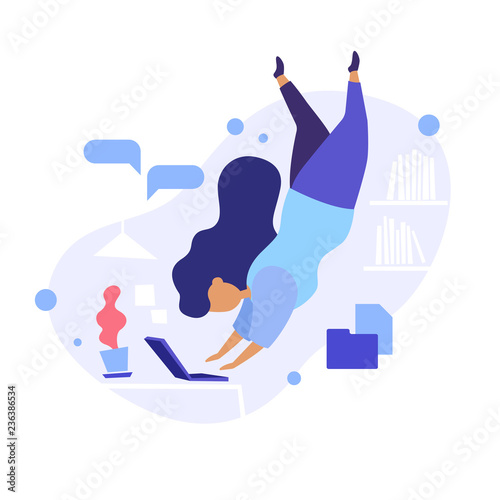 Obraz na płótnie Dive Into Work Concept Illustration