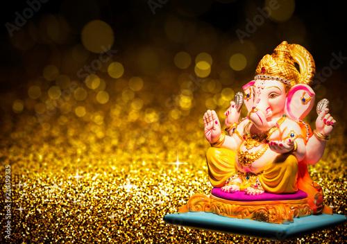 Fotografie, Obraz  Lord Ganesha ganesh festival chaturthi