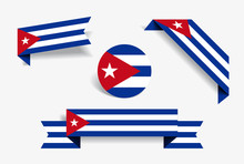 Cuban Flag Stickers And Labels...