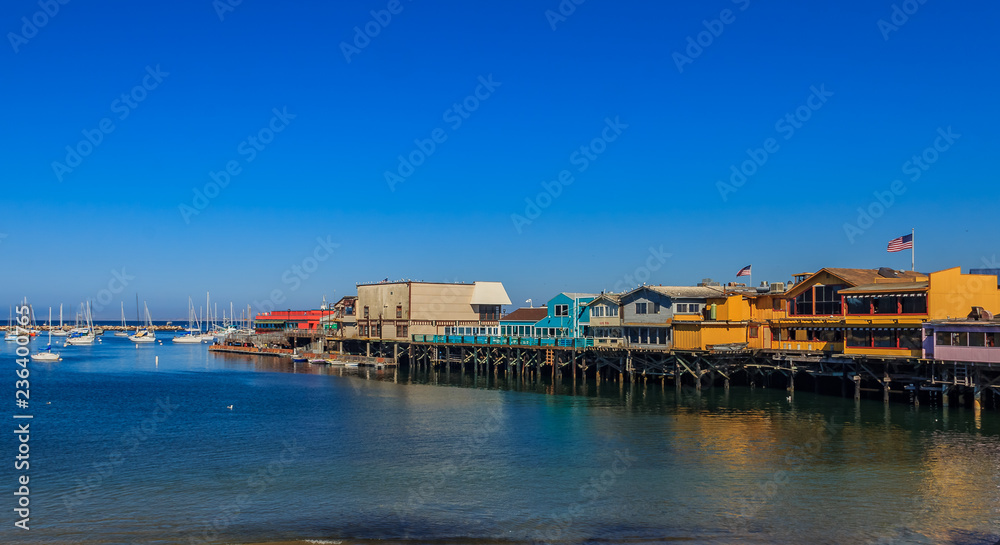 Fototapety, obrazy: Old Fisherman's Wharf in Monterey, California, a famous tourist attraction