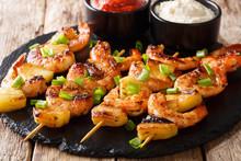 Grilled Kebabs With Shrimp Wit...