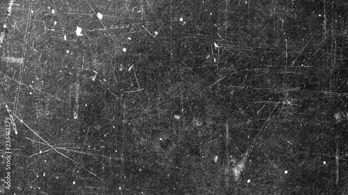 Texture of old surface on black background with white scratches
