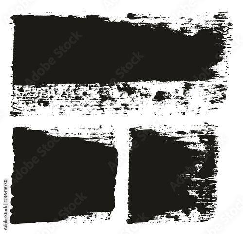 Fotografía  Paint Brush Wide Lines High Detail Abstract Vector Background Set 130