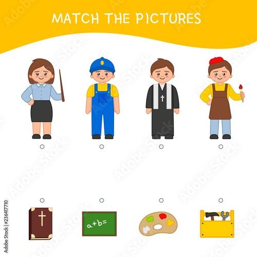 Fotografía  Matching children educational game