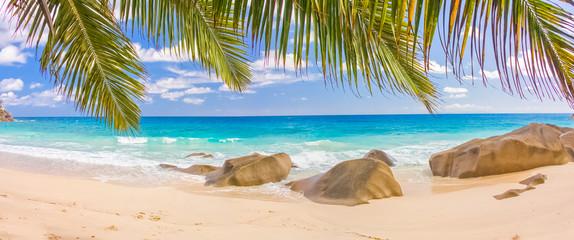 Panel Szklany Podświetlane Eko Plage paradisiaque des Seychelles, anse Source d'argent