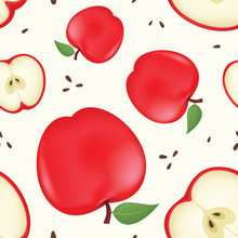 Vector Apple Seamless Pattern....