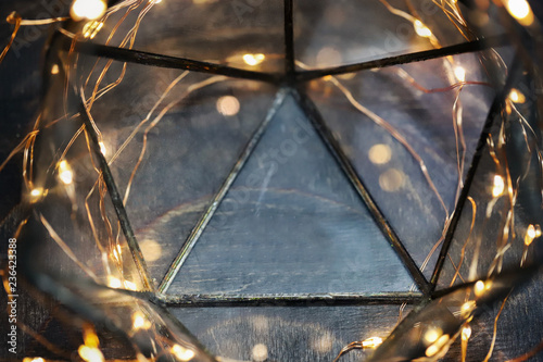Magical Christmas background with lights around Fototapet