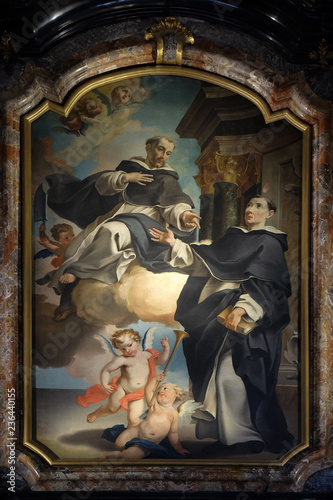Altar of Saint Peter the martyr in the Cathedral of Saint Lawrence in Lugano, Sw Wallpaper Mural