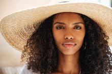 Portrait Of Woman Wearing Stra...