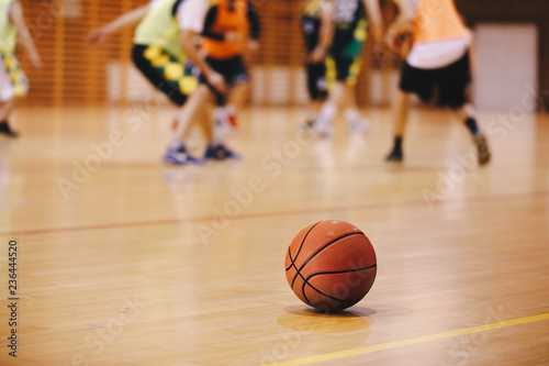 Basketball Training Game Background Fototapet