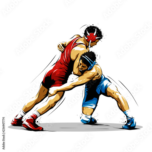 Obraz wrestling action 10 - fototapety do salonu