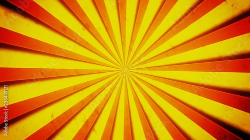 Bright yellow and red stripes, with shadows, converging and forming a circle Canvas-taulu