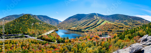 Echo Lake in the Fall in Vermont Wallpaper Mural