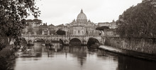 Tiber River With St. Peter's B...